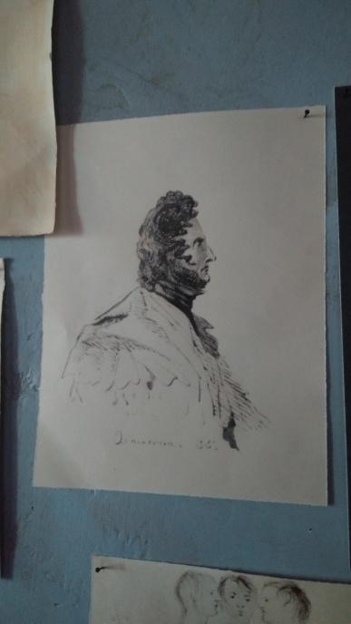 Zamorna depicted by Branwell Brontë