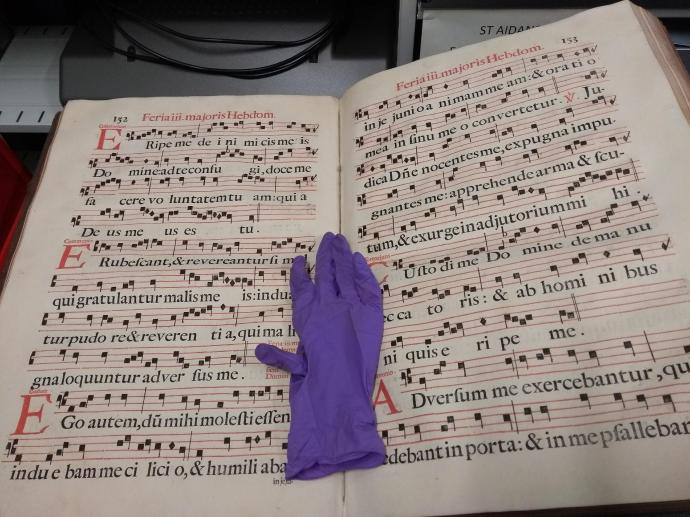 An exquisite music book