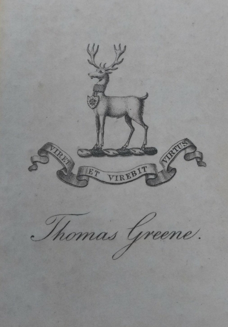 Thomas Greene's Bookplate