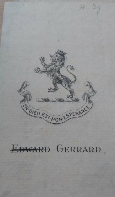 Edward Gerrard's Bookplate