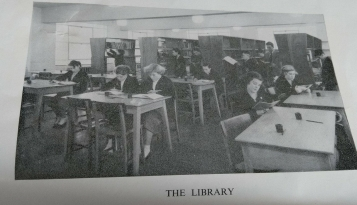 The library, St. Dominic's Secondary School, Huyton, 1956