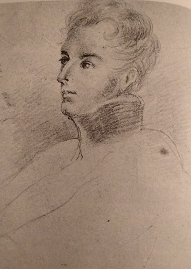 Undated pencil drawing depicting Arthur, Marquis of Douro which is attributed to Charlotte Brontë