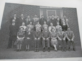 Staff photograph 1956, St. Dominic's Secondary School, Huyton