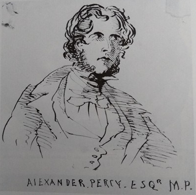 Branwell Brontë's drawing of Alexander Percy, 1846