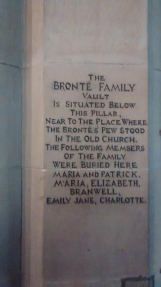 Brontë memorial inside St. Michael and All Angels' Church, Haworth