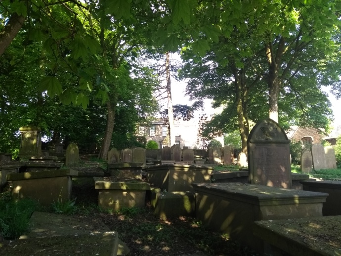 Parsonage and churchyard