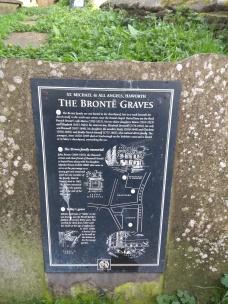 Brontë grave information