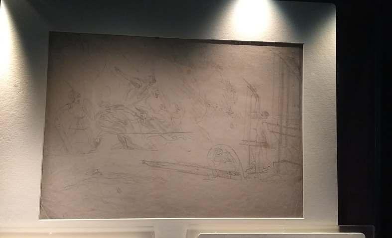 Branwell's Battle Scene (c.1830-33)