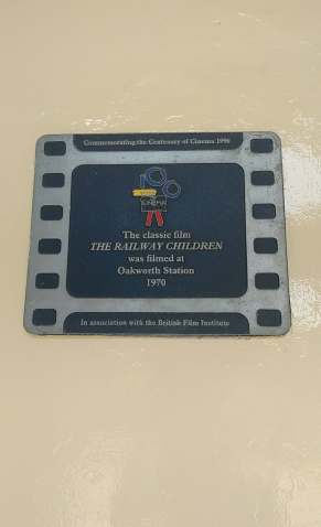 Plaque to mark filming of The Railway Children
