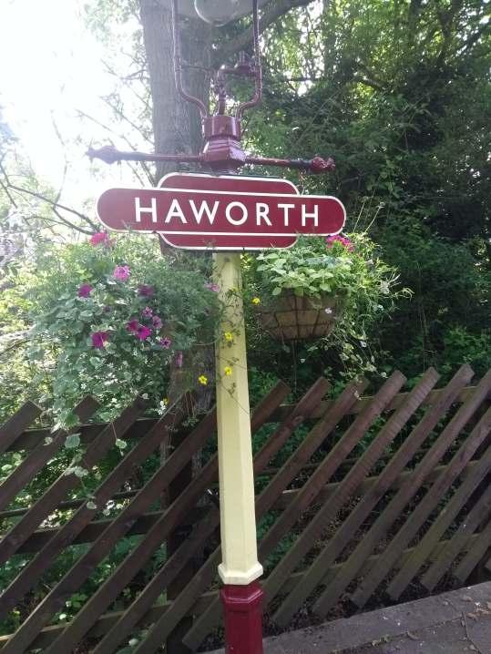 Haworth Station Sign
