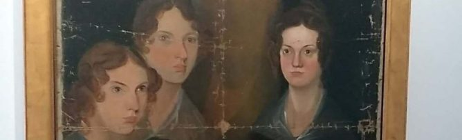 Anne, Emily, and Charlotte depicted by Branwell c. 1833