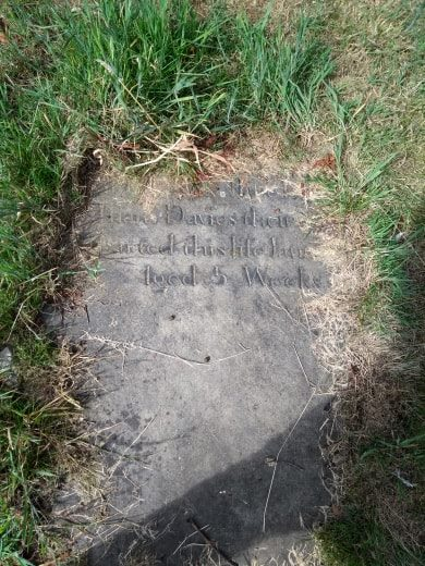 Grave of Five Week Old Child