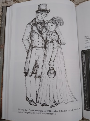 Drawing of Patrick and Maria by Eleanor Houghton