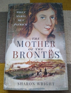 Cover of The Mother of the Brontës, designed by Jon Wilkinson